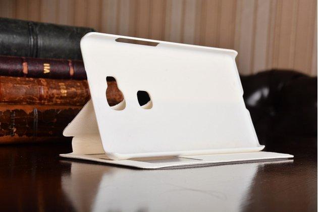 """Фирменный чехол-книжка для  Huawei Honor 5X / 5X Play /  KIW-AL10 / Mate 7 Mini /GR5 5.5"""" белый  с окошком для входящих вызовов водоотталкивающий"""