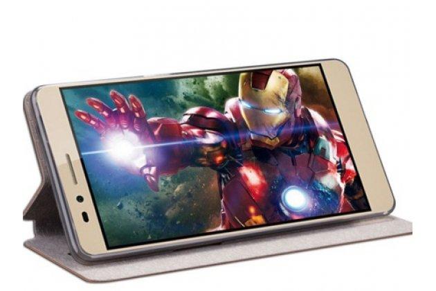 """Фирменный чехол-книжка из качественной водоотталкивающей импортной кожи на жёсткой металлической основе для  Huawei Honor 5X / 5X Play /  KIW-AL10 / Mate 7 Mini /GR5 5.5"""" бирюзовый"""