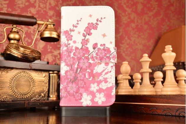 "Фирменный уникальный необычный чехол-книжка для  Huawei Honor 5X / 5X Play / KIW-AL10 / Mate 7 Mini /GR5 5.5""  ""тематика цветок Сакуры"""