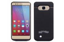 """Чехол-бампер со встроенной усиленной мощной батарей-аккумулятором большой повышенной расширенной ёмкости 4200mAh для Huawei Honor 5X 5.5"""" (KIW-L21 /TL00 /AL10) черный + гарантия"""
