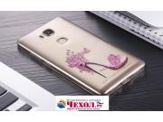 Фирменная задняя панель-чехол-накладка из прозрачного 3D силикона с объёмным рисунком для Huawei Honor 5X 5.5