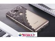 Фирменная задняя панель-чехол-накладка из прозрачного 3D  силикона с объёмным рисунком для Huawei Honor 5X 5.5..