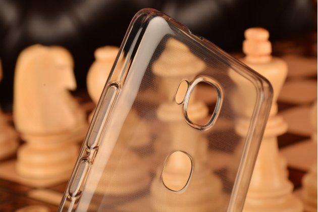 """Фирменная ультра-тонкая полимерная из мягкого качественного силикона задняя панель-чехол-накладка для Huawei Honor 5X / 5X Play /  KIW-AL10 / Mate 7 Mini /GR5 5.5""""  серебристая с защитными заглушками"""