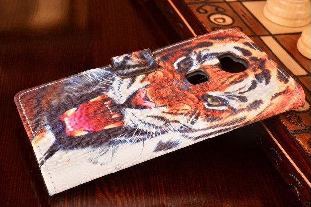 "Фирменный уникальный необычный чехол-подставка с визитницей кармашком на Huawei Honor 5X / 5X Play /  KIW-AL10 / Mate 7 Mini /GR5 5.5""   ""тематика Тигр"""