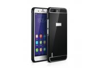 Фирменная металлическая задняя панель-крышка-накладка из тончайшего облегченного авиационного алюминия для Huawei Honor 6 Plus черная
