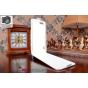 Фирменный оригинальный вертикальный откидной чехол-флип для Huawei Honor 6 Plus белый из качественной импортно..