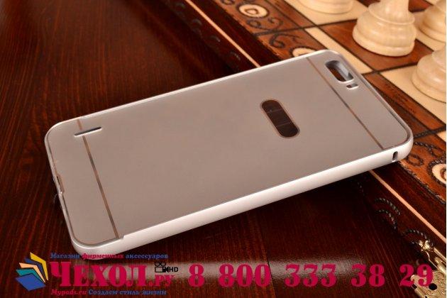Фирменная металлическая задняя панель-крышка-накладка из тончайшего облегченного авиационного алюминия для Huawei Honor 6 Plus серебристая