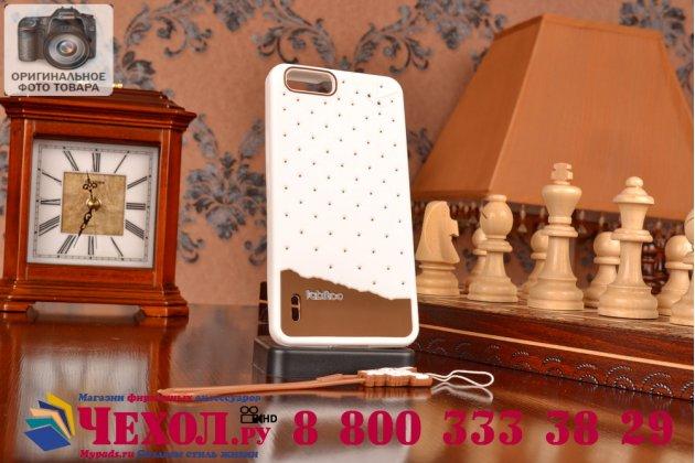 """Фирменная необычная уникальная полимерная мягкая задняя панель-чехол-накладка для Huawei Honor 6 Plus + """"тематика Андроид в Белом Шоколаде"""""""