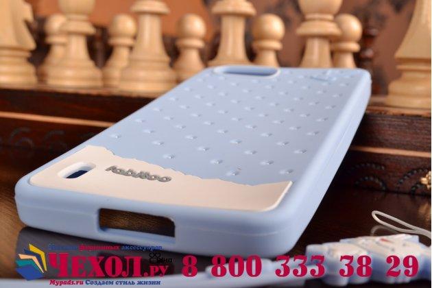 """Фирменная необычная уникальная полимерная мягкая задняя панель-чехол-накладка для Huawei Honor 6 Plus +  """"тематика Андроид в черничном шоколаде"""""""