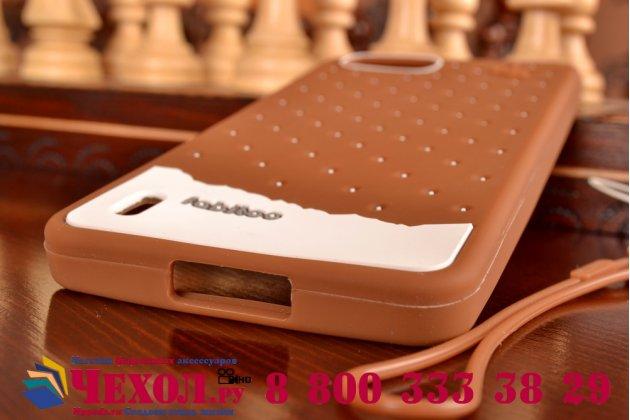 """Фирменная необычная уникальная полимерная мягкая задняя панель-чехол-накладка для Huawei Honor 6 Plus """"тематика Андроид в тёмном Шоколаде"""""""