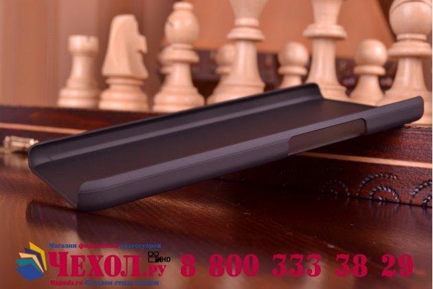 Фирменная задняя панель-крышка-накладка из тончайшего и прочного пластика для Huawei Honor 6 Plus черная