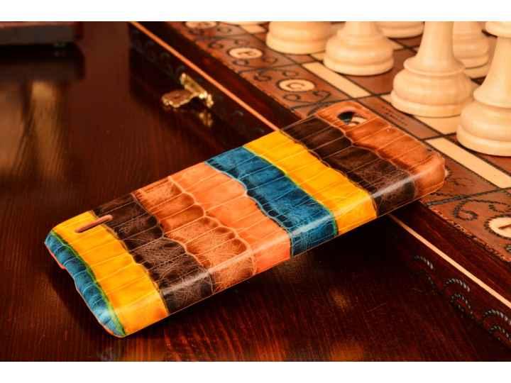 Фирменная неповторимая экзотическая панель-крышка обтянутая кожей крокодила с фактурным тиснением для Huawei H..