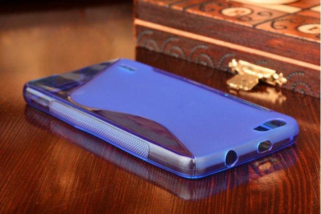 Фирменная ультра-тонкая полимерная из силикона задняя панель-чехол-накладка для Huawei Honor 6 синяя