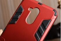 Противоударный усиленный ударопрочный фирменный чехол-бампер-пенал для Huawei Enjoy 6S / Nova Smart 5.0/Honor 6C красный