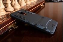 Противоударный усиленный ударопрочный фирменный чехол-бампер-пенал для Huawei Enjoy 6S / Nova Smart 5.0/Honor 6C черный