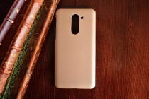 Фирменная задняя панель-крышка-накладка из тончайшего и прочного пластика для Huawei Honor 6X (BLN-AL10) 5.5 золотая