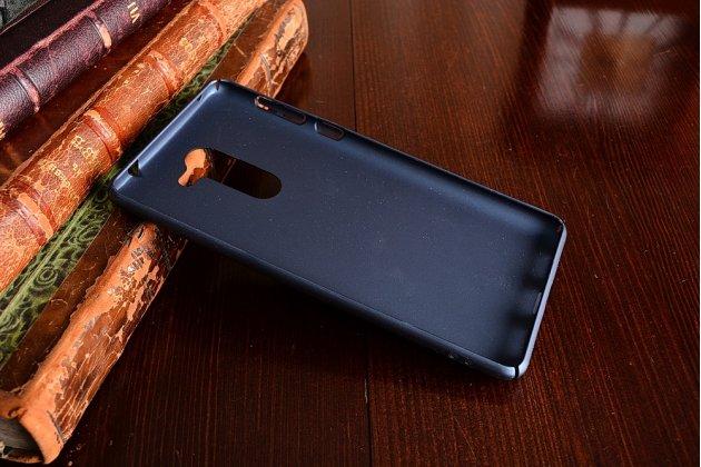 Фирменная задняя панель-крышка-накладка из тончайшего и прочного пластика для Huawei Honor 6X (BLN-AL10) 5.5 синяя