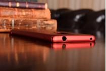 Фирменная задняя панель-крышка-накладка из тончайшего и прочного пластика для Huawei Honor 6X (BLN-AL10) 5.5 красная