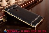Фирменная премиальная элитная крышка-накладка на for Huawei Honor 6X (BLN-AL10) 5.5 черная из качественного силикона с дизайном под кожу