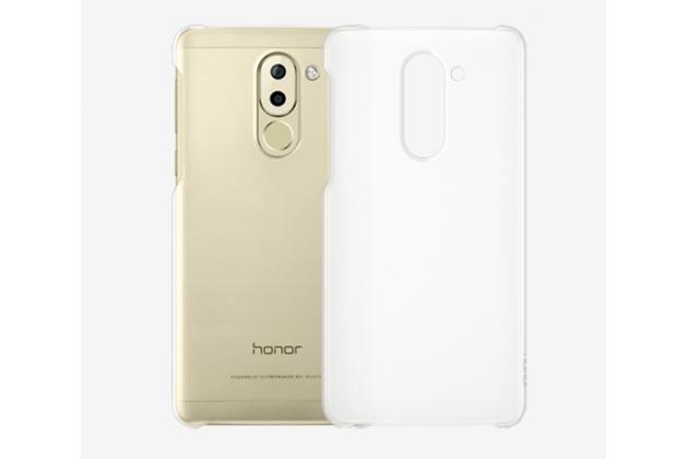 Фирменная задняя панель-крышка-накладка из тончайшего и прочного пластика для Huawei Honor 6X (BLN-AL10) 5.5 прозрачная