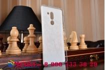 Фирменная задняя панель-чехол-накладка из прозрачного 3D  силикона с объёмным рисунком для Huawei Honor 6X (BLN-AL10) 5.5 тематика Девочка и кот которая огибает логотип чтобы была видна марка телефона