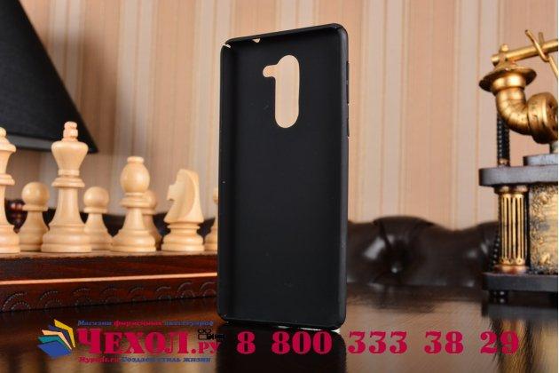 Фирменная задняя панель-крышка-накладка из тончайшего и прочного пластика для Huawei Honor 6X (BLN-AL10) 5.5 черная