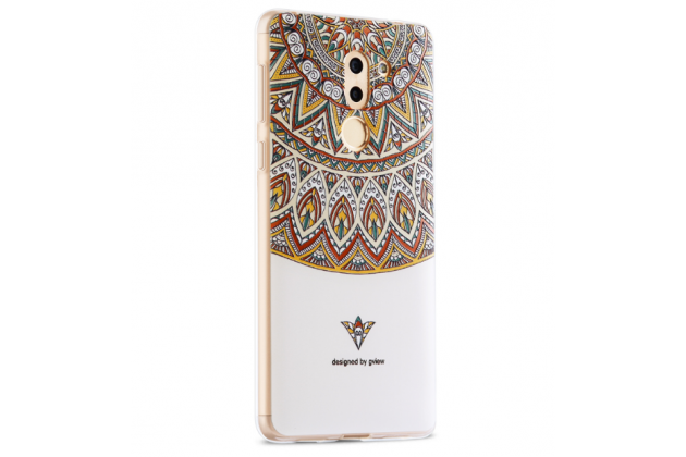 """Фирменная уникальная задняя панель-крышка-накладка из тончайшего силикона для Huawei Honor 6X (BLN-AL10) 5.5 с объёмным 3D рисунком """"тематика Стильные Узоры"""""""