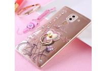 Фирменная ультра-тонкая полимерная из мягкого качественного силикона задняя панель-чехол-накладка украшенная стразами и кристаликами с рисунком Париж для Huawei Honor 6X (BLN-AL10) 5.5