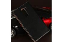 Фирменный оригинальный чехол-книжка для Huawei Honor 6X (BLN-AL10) 5.5/ Honor 6X Premium черный с окошком для входящих вызовов водоотталкивающий