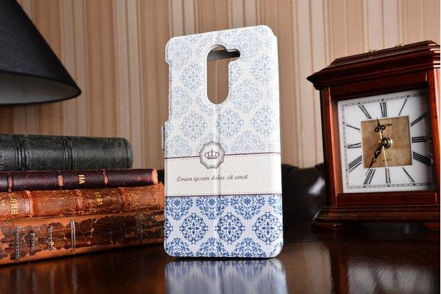 """Фирменный чехол-книжка с безумно красивым расписным рисунком """"тематика Корона в винтажном стиле"""" на Huawei Honor 6X (BLN-AL10) 5.5 с окошком для звонков"""