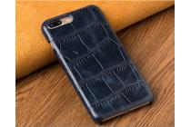 Фирменная элегантная экзотическая задняя панель-крышка с фактурной отделкой натуральной кожи крокодила синего цвета для Huawei Honor 6X . Только в нашем магазине. Количество ограничено.