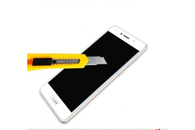 Фирменное защитное закалённое противоударное стекло премиум-класса из качественного японского материала с олеофобным покрытием для телефона Huawei Honor 7 Plus