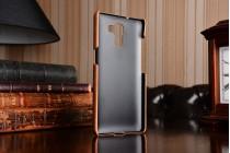 Фирменная роскошная элитная премиальная задняя панель-крышка для Huawei Honor 7 из качественной кожи буйвола коричневый