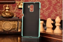 Фирменная роскошная элитная премиальная задняя панель-крышка на пластиковой основе обтянутая лаковой кожей крокодила для Huawei Honor 7/ Honor 7 Premium бирюзовый