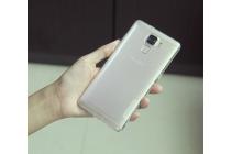 Фирменная ультра-тонкая полимерная из мягкого качественного силикона задняя панель-чехол-накладка для Huawei Honor 7 с защитными заглушками белая