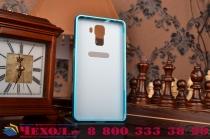 Фирменная металлическая задняя панель-крышка-накладка из тончайшего облегченного авиационного алюминия для Huawei Honor 7/ Honor 7 Premium голубая