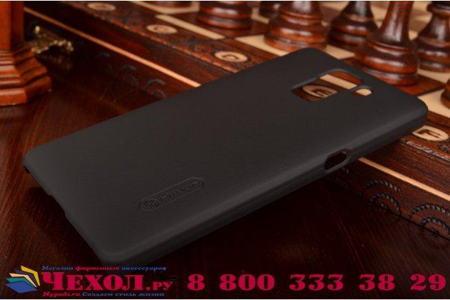 Фирменная задняя панель-крышка-накладка из тончайшего и прочного пластика для Huawei Honor 7 черная