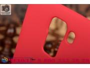 Фирменная задняя панель-крышка-накладка из тончайшего и прочного пластика для Huawei Honor 7 красная..