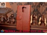 Фирменный чехол-книжка из качественной импортной кожи с мульти-подставкой застёжкой и визитницей для Хуавей Хо..