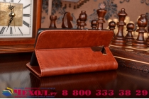 Фирменный чехол-книжка из качественной импортной кожи с мульти-подставкой застёжкой и визитницей для Хуавей Хонор 7/ Хонор 7 Премиум коричневый