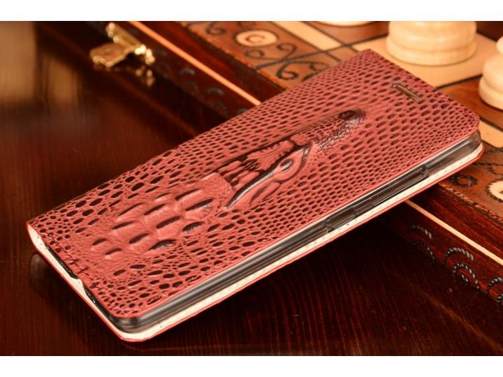 Фирменный роскошный эксклюзивный чехол с объёмным 3D изображением кожи крокодила фиолетовый для Huawei Honor 7..
