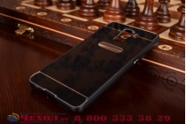 Фирменная металлическая задняя панель-крышка-накладка из тончайшего облегченного авиационного алюминия для Huawei Honor 7/ Honor 7 Premium черная