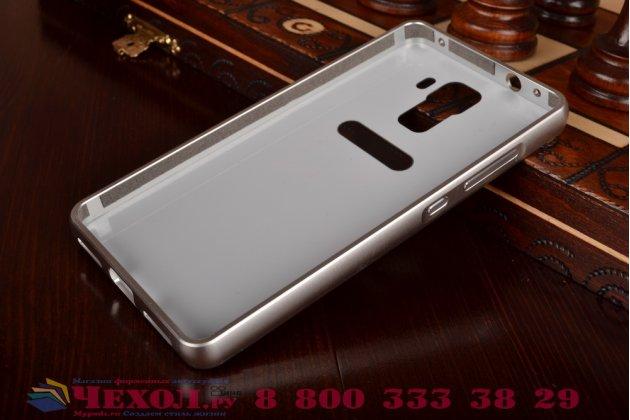 Фирменная металлическая задняя панель-крышка-накладка из тончайшего облегченного авиационного алюминия для Huawei Honor 7 серебристая