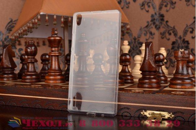 Фирменная ультра-тонкая полимерная из мягкого качественного силикона задняя панель-чехол-накладка для Huawei Honor 7 белая