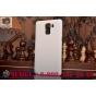 Фирменная задняя панель-крышка-накладка из тончайшего и прочного пластика для Huawei Honor 7 белая..