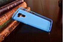Фирменная ультра-тонкая полимерная из мягкого качественного силикона задняя панель-чехол-накладка для Huawei Honor 7 голубая