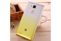 Фирменная из тонкого и лёгкого пластика задняя панель-чехол-накладка для Huawei Honor 7 прозрачная с эффектом песка