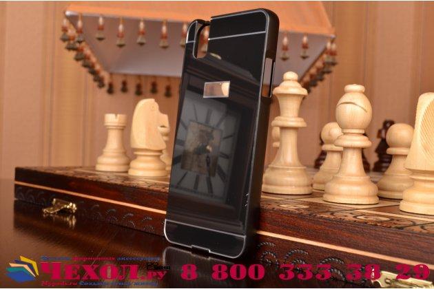 """Фирменная металлическая задняя панель-крышка-накладка из тончайшего облегченного авиационного алюминия для Huawei Honor 7i Dual Sim/ShotX 5.2"""" черная"""