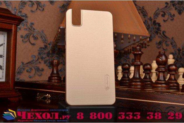 """Фирменная задняя панель-крышка-накладка из тончайшего и прочного пластика для Huawei Honor 7i Dual Sim/ShotX 5.2"""" золотая"""