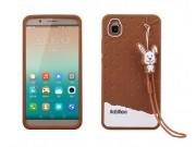 Фирменная необычная уникальная полимерная мягкая задняя панель-чехол-накладка для Huawei Honor 7i Dual Sim/Sho..